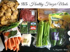 Operation Organization 2014: Recipes/Shopping list to stock your freezer with 25 (!)  HEALTHY and delicious crockpot meals.