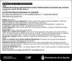 CRÓNICA FERROVIARIA: Llamado a Licitación Pública Estudio de Puentes Nr...
