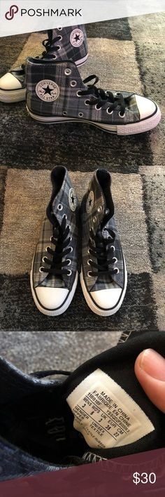 Converse Chuck Taylor Plaid Hi Men 3/ Women 5 NWOT It's a gift from my friend but too small for me...Never worn, condition is excellent. Converse Shoes Sneakers