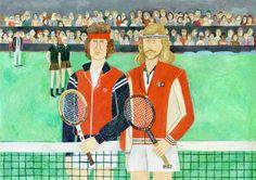 Björn Borg & John McEnroe in 1980 on Behance