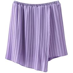Purple Ladies High Low Slit Chiffon Pleated Skirt ($20) ❤ liked on Polyvore featuring skirts, purple, hi low skirt, dip hem skirt, high-low skirt, short front long back skirt and chiffon skirt