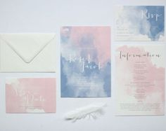 Are you interested in our Watercolour wedding stationery? With our Pastel wedding stationery you need look no further. Watercolor Wedding Invitations, Wedding Invitation Design, Wedding Stationary, Watercolour Invites, Invitation Suite, Pastel Wedding Stationery, Calligraphy Watercolor, Invitation Wording, Wedding Paper