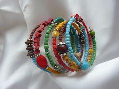 Spiralarmreif Colors of Africa von Ellens Schatzkiste auf DaWanda.com