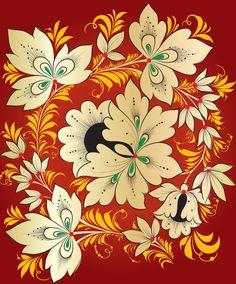 绚丽的古典花纹04——矢量素材