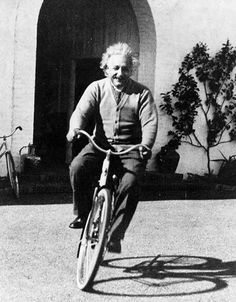 """the-heart-of-the-lion:  """"LIFE IS LIKE RIDING A BICYCLE. YOU HAVE GOT TO KEEP MOVING."""" ~ ALBERT EINSTEIN"""