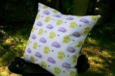 Design cushion cover  Dandelion & Hedgehog by BumbleandHare, $29.50