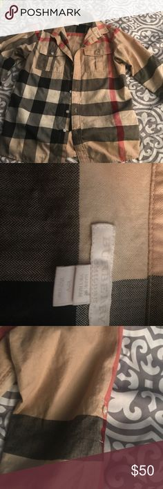 Boys Burberry button down shirt In great condition! Only worn twice. Purchased from Nordstrom Burberry Shirts & Tops Button Down Shirts