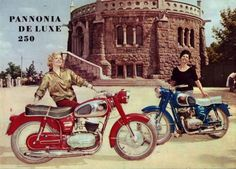 On the top of Buda Hills (Budapest) , background a lookout-tower on the City with Pannonia de Luxe of and s Native Brand, Lookout Tower, Motorcycle Posters, Illustrations And Posters, Eastern Europe, Cool Bikes, Hungary, Cars And Motorcycles, Vintage Posters
