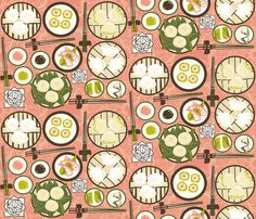 Dim Sum Banquet fabric by artytypes on Spoonflower - custom fabric