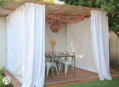 Finished Decorated Sukkah