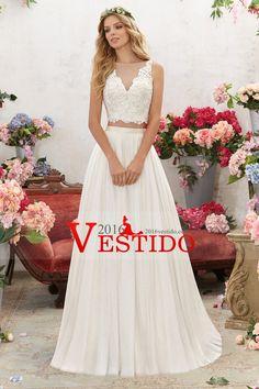 2017 de dos piezas de la cucharada Una línea vestidos de boda de tul con apliques US$ 219.99 VEP8TEGTPA - 2016Vestido.com for mobile