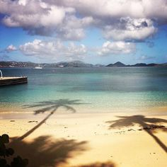 This morning on Caneel Beach. Visit caneelbay.com to book!