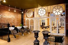Hale Organic Salon   Tribeca   Emulate this stunning decor with The Duke backwash unit with a white bowl http://stand.sh/dukesubrn