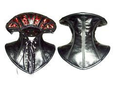 victorian collar by ~crissycatt on deviantART Victorian Collar, Victorian Gothic, Slave Collar, Riding Jacket, Leather Armor, Collar Styles, High Collar, Mask Making, Decorative Bells