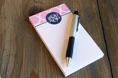 Clairebella Personalized Small Notepad - Hoopla Pink ($24.00)