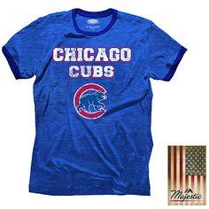 Chicago Cubs Triblend Ringer T-Shirt - MLB.com Shop