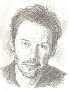 keanu reeves drawing by bcstroud on DeviantArt Pencil Art Drawings, Cool Drawings, Art Sketches, Keanu Reeves Quotes, Celebrity Drawings, Artist Life, Pencil Portrait, Art Reference, Photo Art