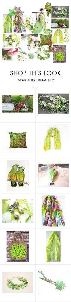 """Light Green"" by anna-recycle ❤ liked on Polyvore featuring modern, rustic and vintage"