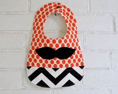 Moustache Baby Bib Cool Baby Clothes by LittlePigeonCrafts on Etsy, $14.00