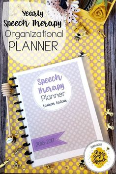 Busy Bee Speech: Cute paperwork organization planners for speech therapy! Perfect for scheduling, data tracking, and more. I especially love the progress report sheets. :)