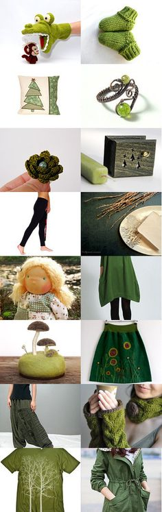 Go with Green !!! by Gabriella and Adam on Etsy--Pinned with TreasuryPin.com