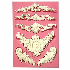 European Relief Lace Mold Fondant Cake Molds Soap Chocolate Mould For The Kitchen Baking – USD $ 10.39