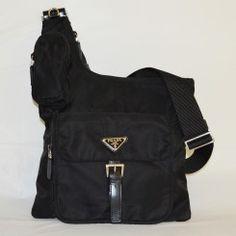 8d7ae5e5956f Prada Messenger Bag BT0520 Black Prada Messenger Bag