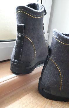 aa8177be1 Обувь ручной работы. Валяные демисезонные мужские ботинки 'Гриджо'. DaNika  - magic quilting