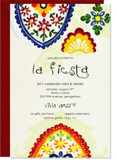 Fancy Fiesta Invitation  Kelly Kay...the source of this partyicular style