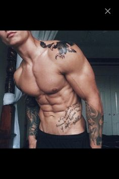 Shoulder eagle tattoo and arms and abs tattoos beautiful Hot Guys Tattoos, Guy Tattoos, Men With Tattoos, Tattoo Guys, Belly Tattoos, Tatoos, Ab Tattoo, Bauch Tattoos, Inked Men