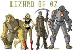 25 Various Styles of The Wizard of Oz Illustrations | The Design Inspiration
