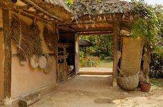 Korean folk village...love the rustic look and natural materials.