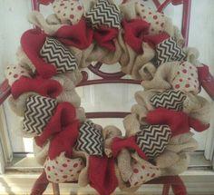 Burlap arkansas wreath