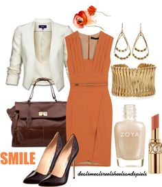 """""""orange for work"""" by enjoytheview on Polyvore"""