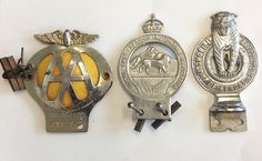 LOT 599: A Royal East African Automobile car badge together with an AA car badge and Bengal car badge. Est. 30 - 50. Coming up in our TWO-DAY SUMMER AUCTION! DAY ONE inclusive of #Silver #Jewellery#Watches and #Coins. DAY TWO inclusive of #Pictures #Collectables #China and #Furniture. #August11 #whittonsauctions #Honiton #pin