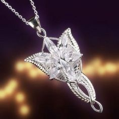 Lord of the rings arwen evenstar pendant necklace solid 925 sterling to be given the evenstar necklace from lord of the rings that be an awesome wedding present aloadofball Images