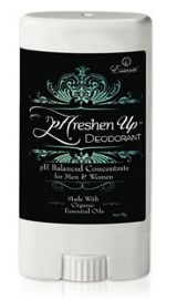 pHreshen Up: Certified organic deodorant For Men & Women - Avoid the bad: No Aluminum, No Glycols, No Parabens No Phthalates, No Triclosan (FDA classified pesticide), No oversized, wasted air space, carbon footprint BPA Plastic No animal testing. Enjoy the good: Certified organic, mini, travel-sized concentrate: 1-2 swipes under each arm. Fresh, alluring scent delivers all day, Plus so much more.