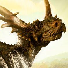 Dinosauria Styracosaurus Statue