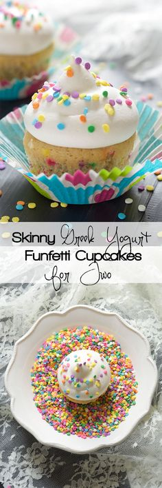 For those times when you get a cupcake craving and have no need for a whole batch! These Greek Yogurt Funfetti Cupcakes are skinny so no wor...
