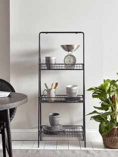 Industrial Style Shelf Unit - Home Storage Units - Drawers, Ladders & Shelves - Home Storage Solutions Wooden Drawers, Home Storage Solutions, Shelf Unit, Shelves, Home Storage Units, Wall Shelving Units, Industrial Shelving, Storage Shelves, Metal Shelves