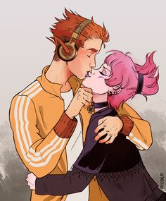 Kid Flash and Jinx by Picolo-kun on @DeviantArt