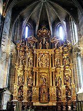 Colegiata de San Miguel Arcángel Aguilar de Campoo. Palencia. Templo parroquial de estilo predominantemente gótico . Siglos XI al XIV. Estilos: tardorrománico, gótico, renacentista, barroco y herreriano.
