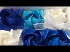 【折り紙】福山ローズを折ってみた Origami Fukuyama Rose - YouTube