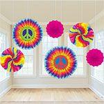 Decorations: 1960s Feeling Groovy Fans - 40cm Fan Decorations
