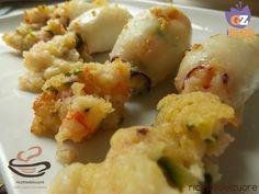 Calamari ripieni di zucchine e gamberetti