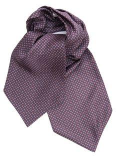 Salerno-Silk Ascot Tie-Maroon