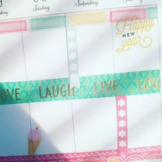 I'm ready for warmer weather  Happy New Year everyone! My newbie planner advice: when you're just getting started save money on decor by using clear/polymer stamps  ink. No need to buy tons of washi tape/stickers...Stamping creates less bulk in your planner too ;] #thehappyplannerigchallenge #thehappyplanner #planneraddict #plannercommunity #happynewyear