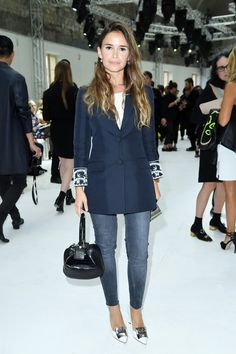 Miroslava Duma attends the Giambattista Valli Haute Couture Fall/Winter 2016-2017 show as part of Paris Fashion Week on July 4, 2016 in Paris, France.