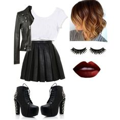 Kylie was a normal girl she was popular and is badass and has loads… # Romantik # amreading # books # wattpad Bad Girl Outfits, Teenager Outfits, Edgy Outfits, Teen Fashion Outfits, Grunge Outfits, Cute Casual Outfits, Mode Rockabilly, Riverdale Fashion, Badass Outfit