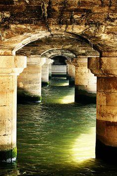 Under a bridge in Paris